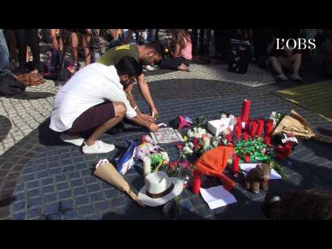 Au lendemain des attentats, l'hommage sur les Ramblas