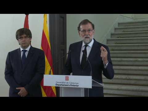 """Rajoy : """"C'est une bataille mondiale"""" contre le terrorisme"""