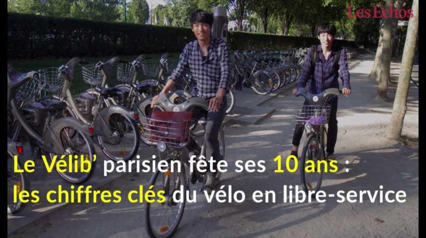 Illustration pour la vidéo Vélib' fête ses 10 ans : les chiffres clés