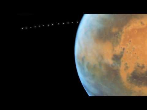 La petite lune Phobos immortalisée autour de Mars