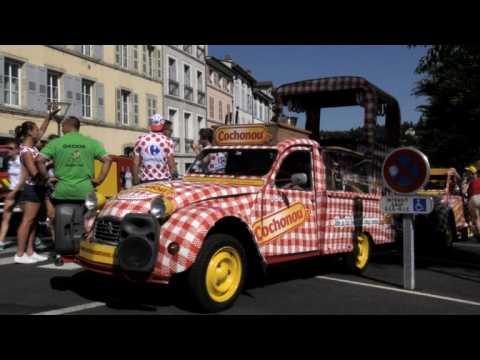 Tour de France caravan draws millions to French roads