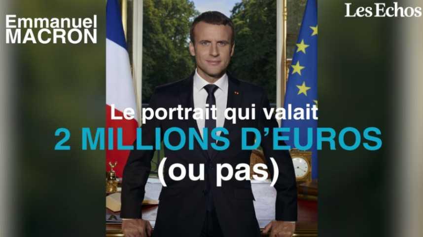 Illustration pour la vidéo Macron : le portrait qui valait 2 millions d'euros (ou pas)