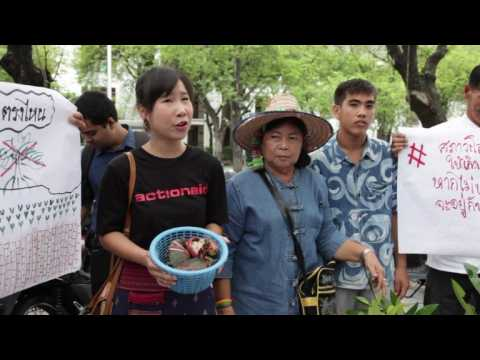 Global protests begin in Bangkok as key UN climate talks waver