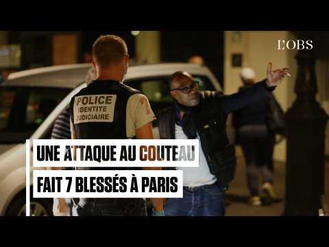 Ce que l'on sait de l'attaque au couteau à Paris qui a fait 7 blessés