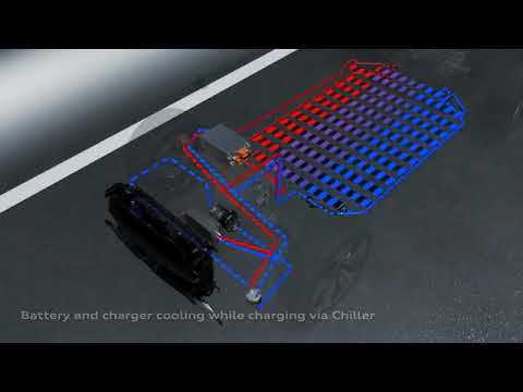 Audi e-tron animation charge and thermal management 2018