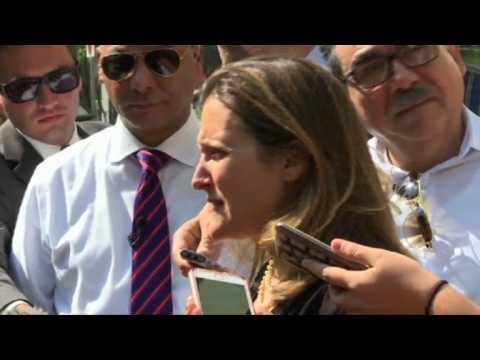 Canada's Freeland back in Washington, DC for more NAFTA talks