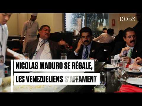 Nicolas Maduro savoure des viandes succulentes, les Vénézuéliens sont affamés