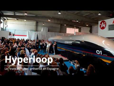"Hyperloop TT présente son ""train du futur"""