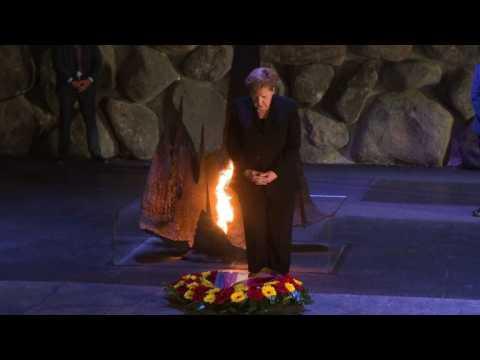 Angela Merkel visits Yad Vashem holocaust museum