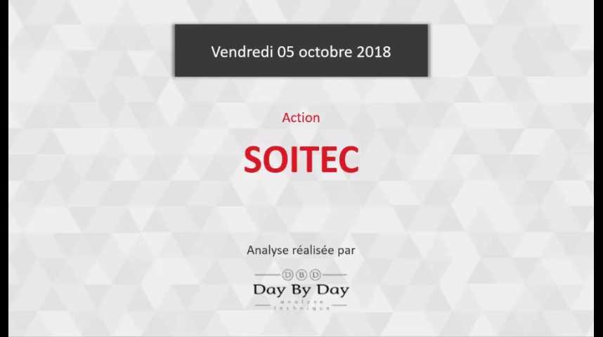 Illustration pour la vidéo Action Soitec - impulsion baissière en cours - Flash Analyse IG 05.10.2018