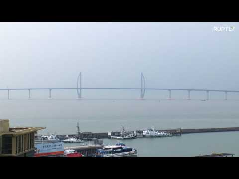 World's longest sea bridge opens up to public