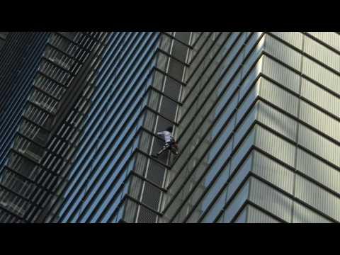 French 'Spider-Man' scales 230m London skyscraper