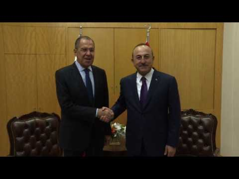 Russian Foreign Minister Sergei Lavrov meets Turkish counterpart
