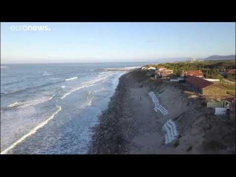 Coastal erosion threatens Portugal's beaches