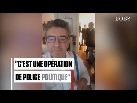 """Perquisitions : Mélenchon dénonce une """"opération de police politique"""""""