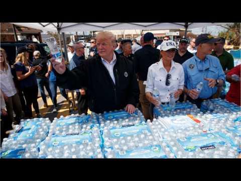 Trump Meets Hurricane Survivors In Devastated Florida Panhandle