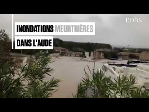 Au moins onze morts dans l'Aude après les pires inondations depuis 1891