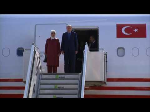 Erdogan arrives in Germany under tight security