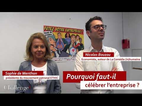 """Duo de choc / Sophie de Menthon - Nicolas Bouzou """"Pourquoi faut-il célébrer l'entreprise ?"""""""