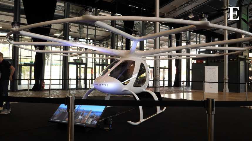 Illustration pour la vidéo Après Dubaï, Volocopter va tester son taxi volant à Singapour