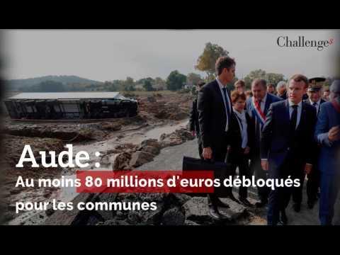 Inondations dans l'Aude: au moins 80 millions d'euros débloqués pour les communes