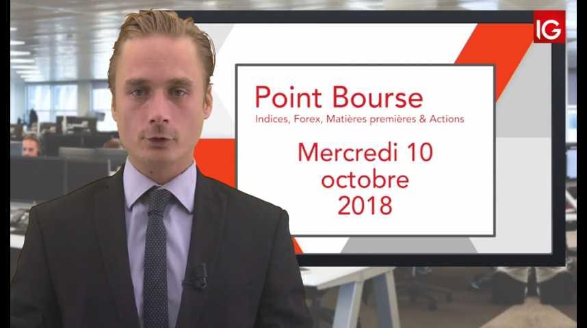 Illustration pour la vidéo Point Bourse IG du Mercredi 10 octobre