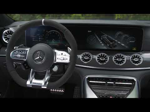Mercedes AMG GT 63 S 4MATIC+ Interior Design in Brilliant blue