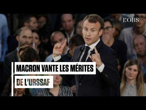 """Macron : """"Votre amie, c'est l'Urssaf'"""
