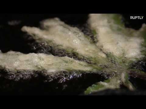 Keep the shape! L.A restaurant serves tempura-battered cannabis leaves