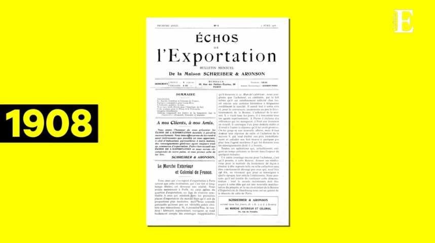 Illustration pour la vidéo Les Echos : 110 ans en 110 Unes !