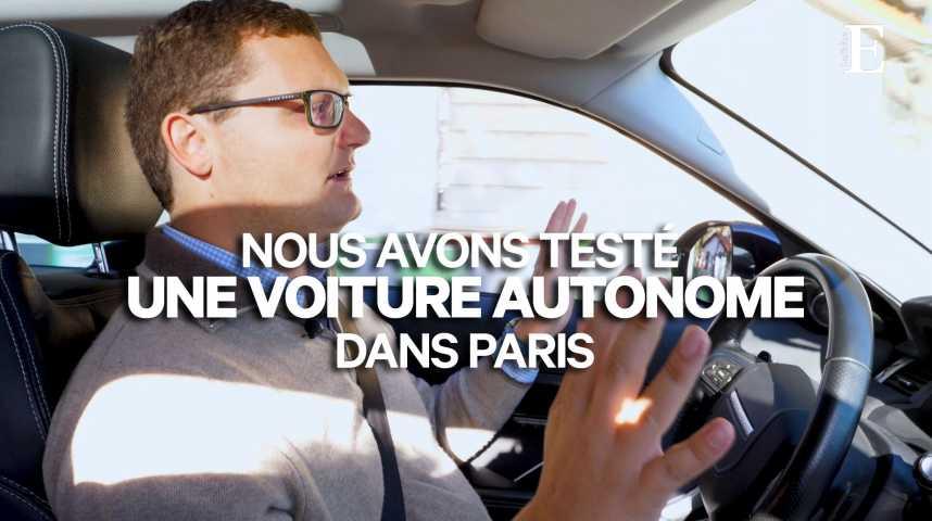 Illustration pour la vidéo Nous avons testé une voiture autonome dans Paris (et on est toujours vivants)