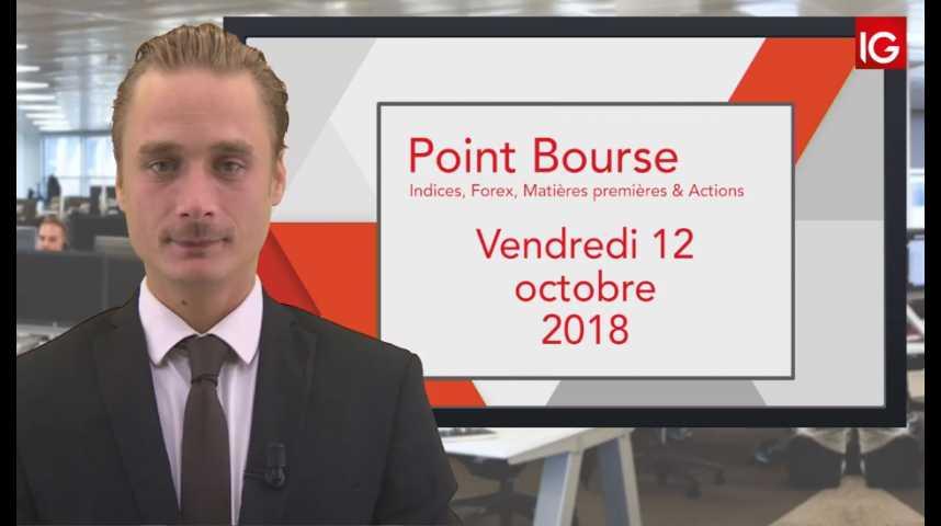 Illustration pour la vidéo Point Bourse IG du Vendredi 12 octobre