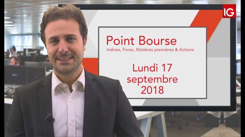 Illustration pour la vidéo Point Bourse IG du Lundi 17 septembre