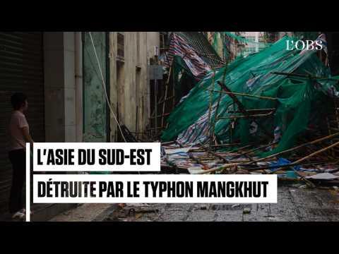 Le typhon Mangkhut sème le chaos en Asie du Sud-Est