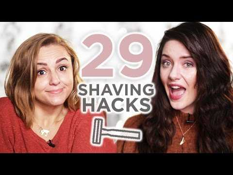 29 HACKS + TIPS: Shaving made FASTER, CHEAPER & EASIER | Melanie Murphy + Hannah Witton