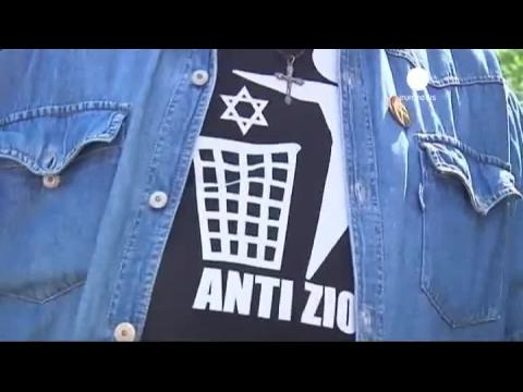 Jobbik leads anti-Jewish rally in Budapest on eve of World Jewish Congress