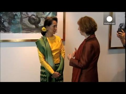 Aung San Suu Kyi accepts EU's Sakharov Prize 23 years after it was awarded