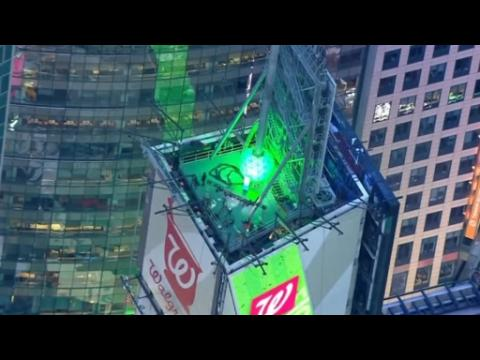 Times Square ball undergoes final preparations for New Year's