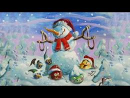 angry birds christmas song fly me home tonight - A Christmas Carol 1997