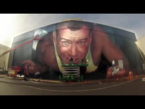 Bruce Willis Mural Unveiled: Inspired By Die Hard Clip
