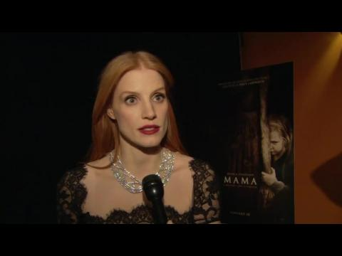 "Jessica Chastain Hits The Red Carpet For the Premiere of ""Mama"""