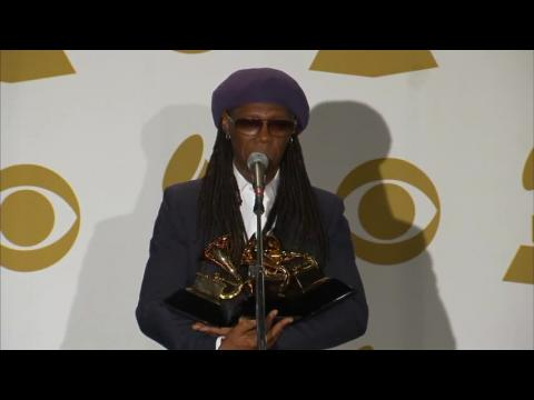 Grammy Awards Backstage: Nile Rodgers Can't Hold Them All