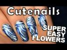 One stroke nail art flower : easy & pretty
