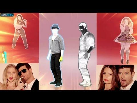 Robin Thicke : BLURRED LINES Lyrics & Dance Moves (Just Dance 2014)