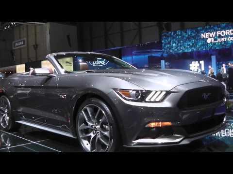 2015 Ford Mustang GT 5.0 Cabrio at Geneva Motor Show 2014 | AutoMotoTV