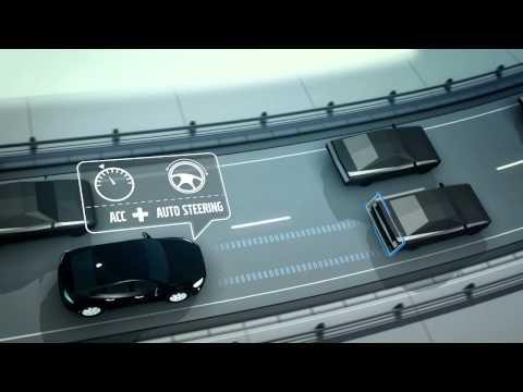 Volvo Adaptive Cruise Control with Steer Assist Animation | AutoMotoTV