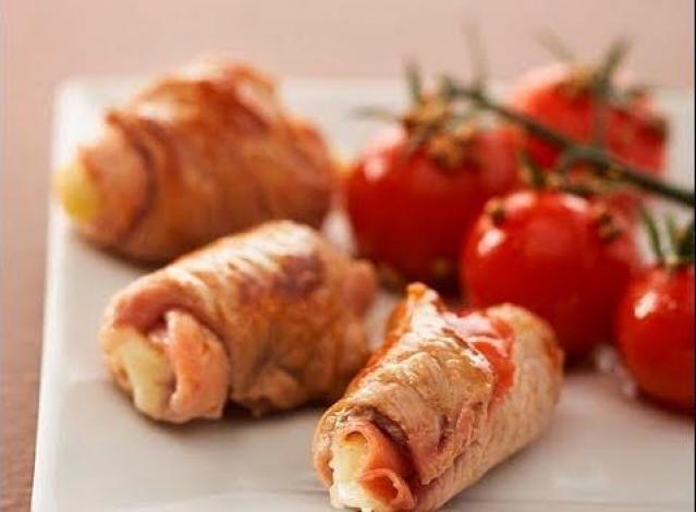 recette de saltimbocca de veau à la mozzarella, tomates cerise au