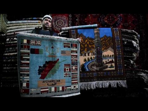 From AK47s to drones, Afghans 'war rugs' reflect bloody decades