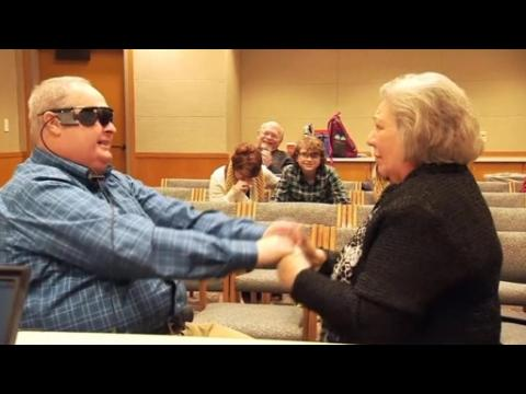 Blind man sees wife for the first time in a decade - here's how