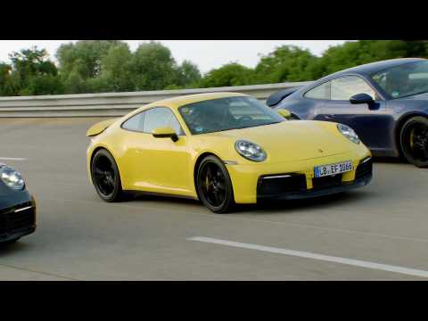 Development Porsche 911 - Testing in Nardò - On the track
